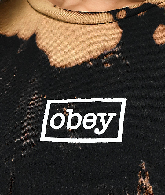 Obey Typewriter Black Bleach T-Shirt