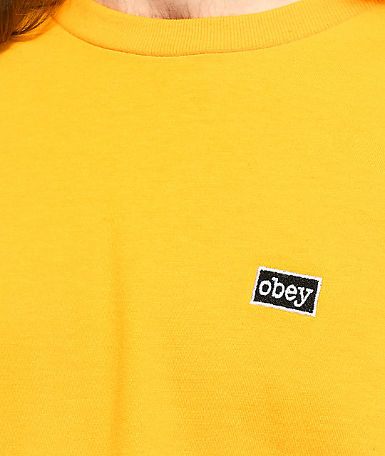 Obey Typewriter Gold T-Shirt
