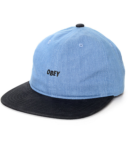 Obey Underground Black & Blue 6 Panel Hat