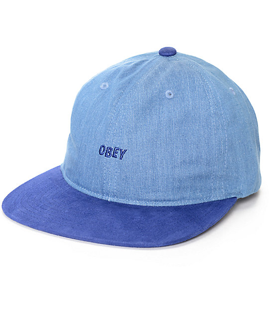 Obey Underground Blue 6 Panel Hat