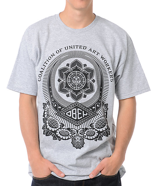Obey United Art Works Heather Grey T-Shirt