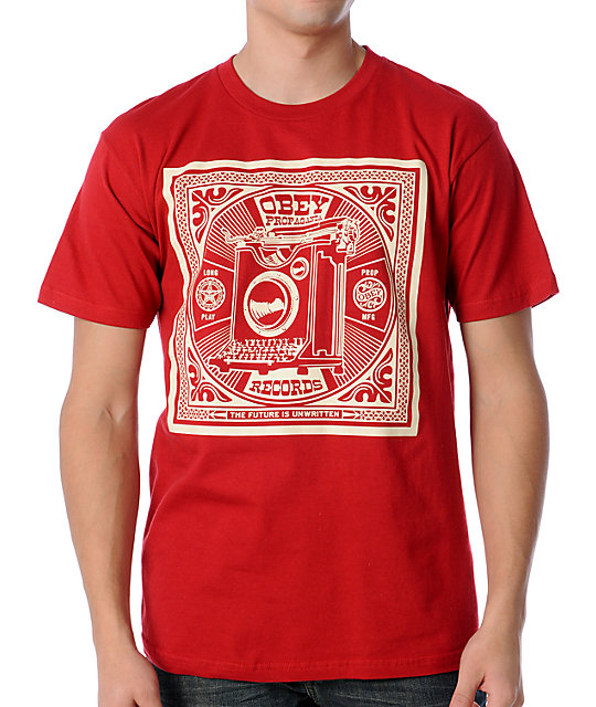 Obey Unwritten Future Red T-Shirt