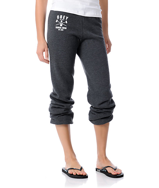 Obey Vandal Crew Charcoal Sweatpants