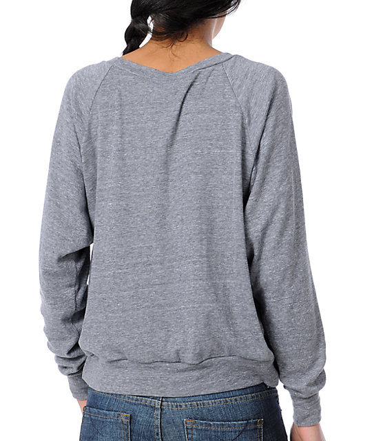 Obey Vandal Heather Grey Raglan Top