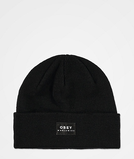 Obey Vernon Ii Black Beanie by Obey