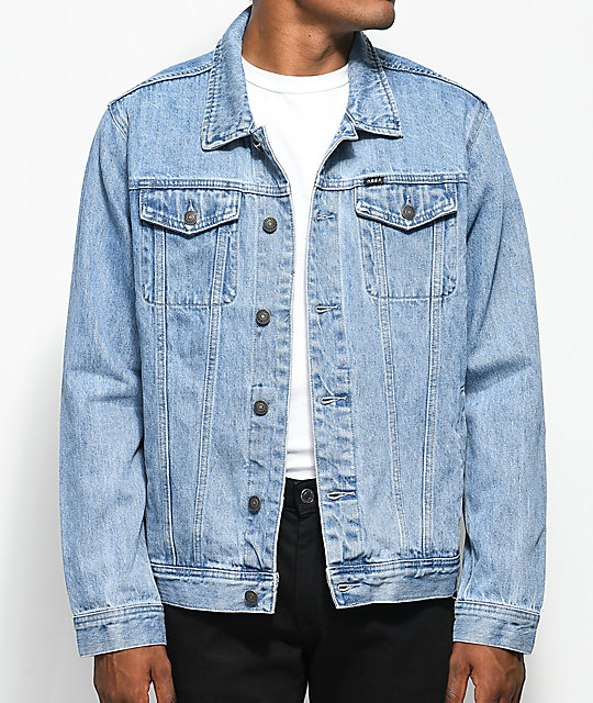 Obey Vicious Light Blue Denim Jacket