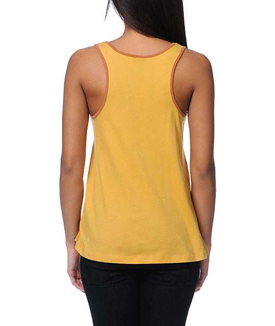 Obey Was Here Yellow Rookie Tank Top