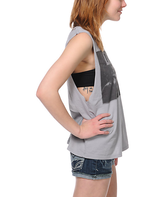 Obey Wasted Youth Grey Muscle Tank Top