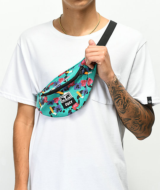 Obey Wasted riñonera floral