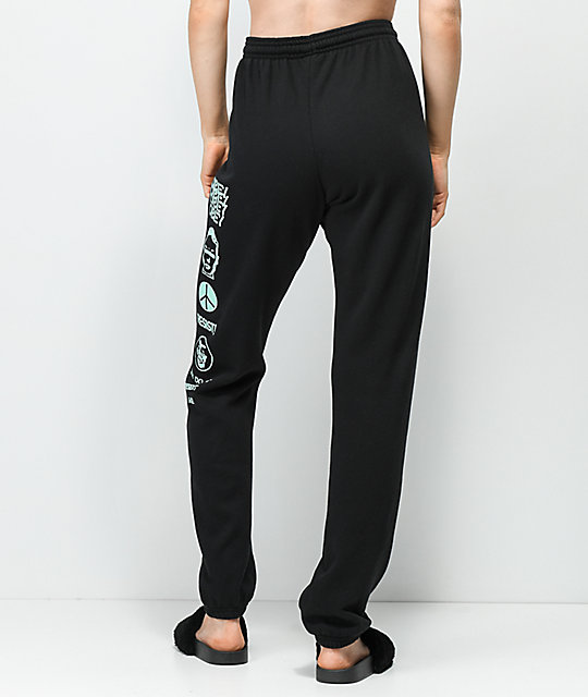 Obey Weekender Resistance Black Jogger Sweatpants