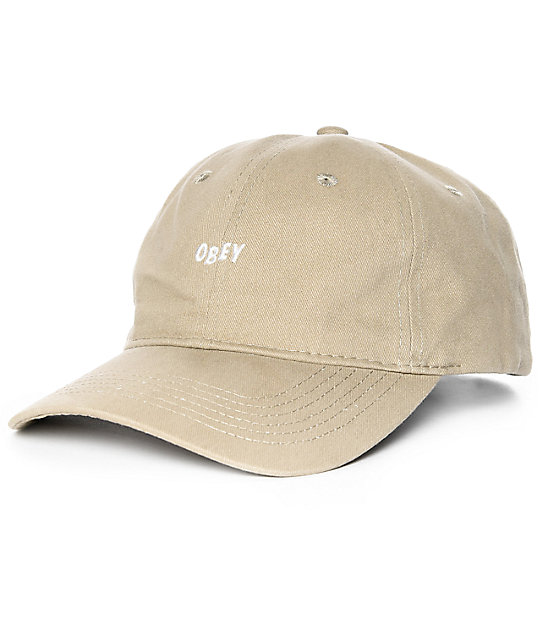 Obey White Jumble gorra strapback en color caqui