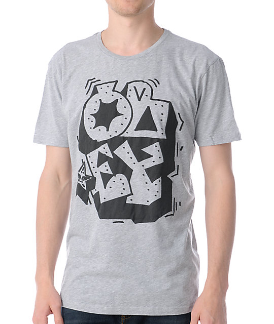 Obey Wild Style Heather Grey Thrift T-Shirt