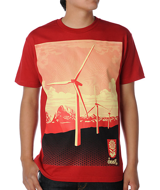 Obey Windmill Red T-Shirt