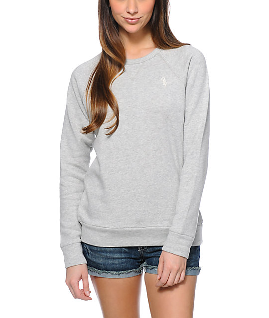 4c294150a885 Obey Womens Lofty Mountain Ash Crew Neck Sweatshirt