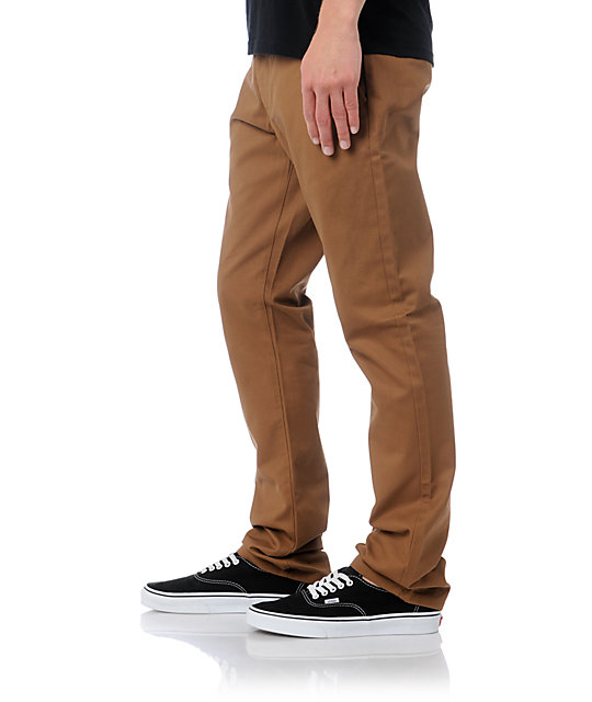 Obey Working Man Brown Slim Fit Chino Pants