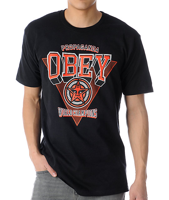 Obey World Champions Black T-Shirt