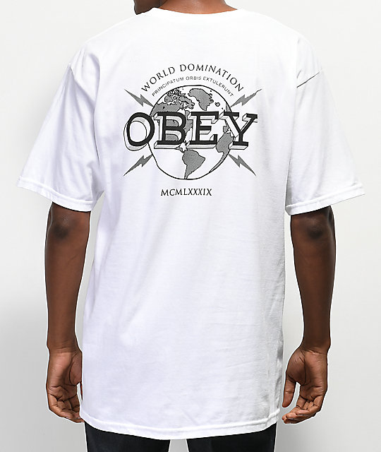 Obey World Domination camiseta blanca