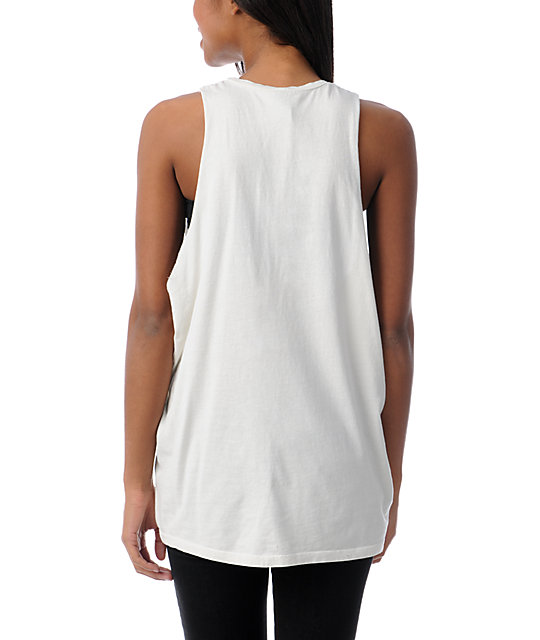 Obey World Tour Cut Off Tank Top