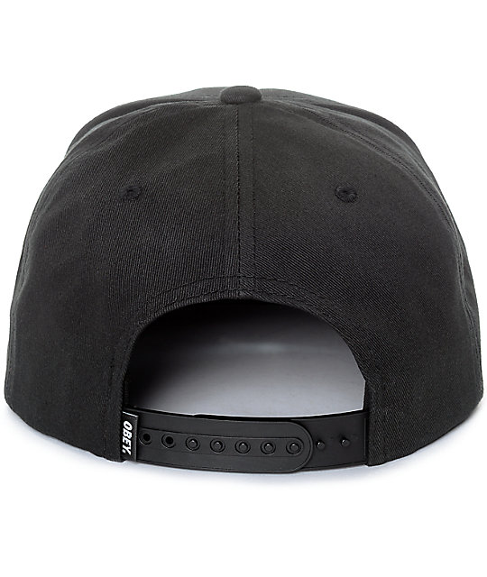 Obey Worldwide Dissent Black Snapback