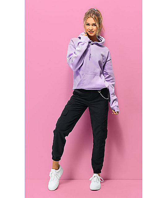 Obey Worldwide Outline sudadera con capucha lavanda