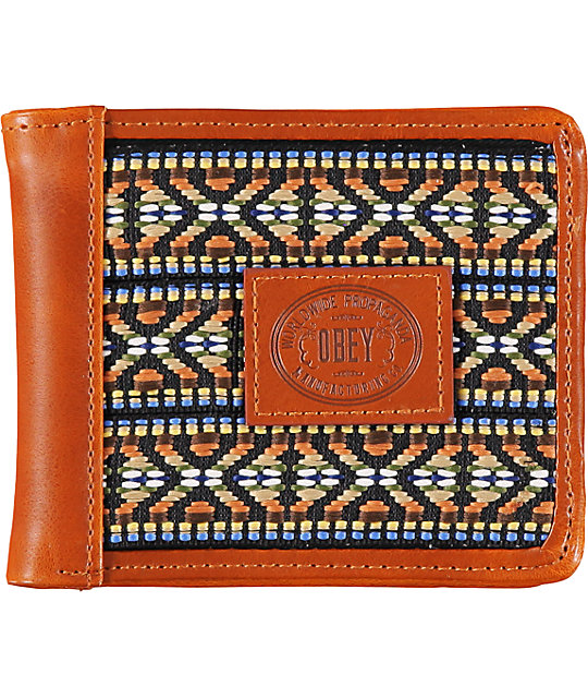 Obey Yuma Brown Bifold Wallet