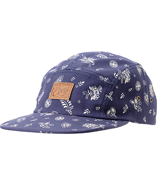 Obey Yuma Navy 5 Panel Hat