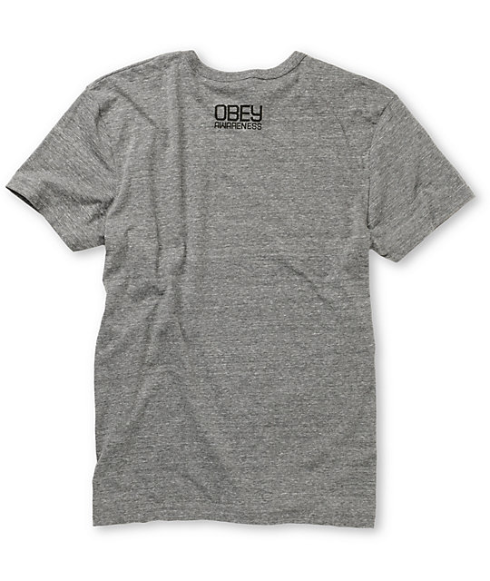 Obey x ANWR 50th Heather Grey T-Shirt