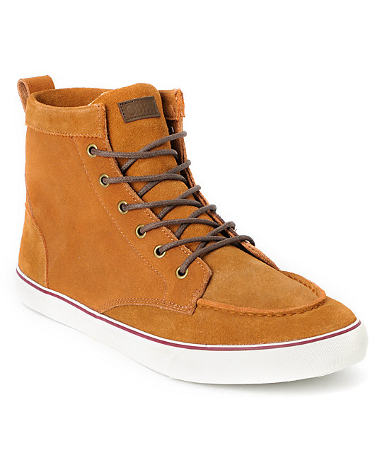Obey x Generic Surplus High Top Brown Suede Shoes