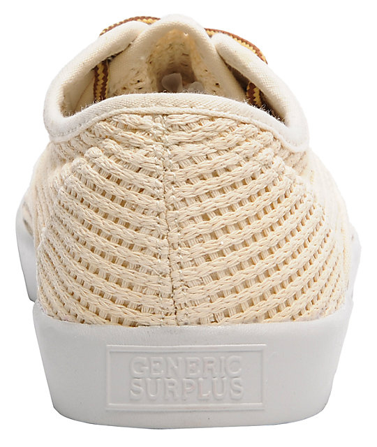 Obey x Generic Surplus Mesh Natural Shoes