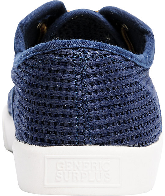 Obey x Generic Surplus Mesh Navy Shoes