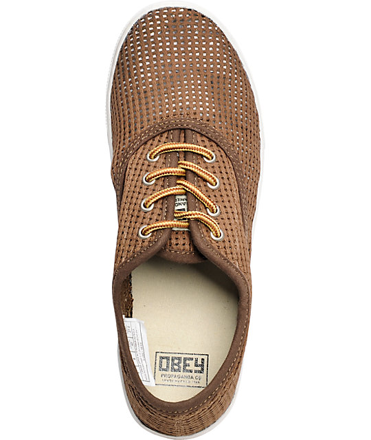 Obey x Generic Surplus Mesh Tobacco Shoes