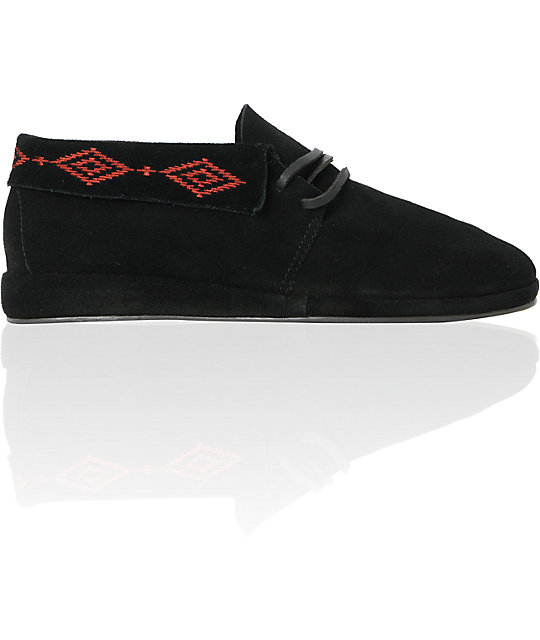 Obey x Generic Surplus Mingus Black Suede Shoes