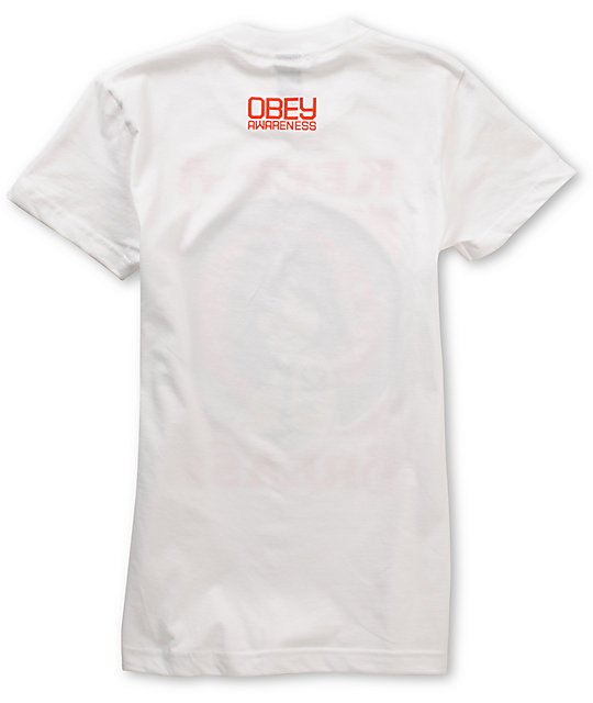 Obey x Keep A Breast Foundation White T-Shirt