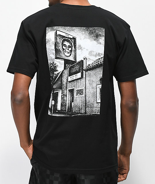 Obey x Misfits 138 Sunset Black T-Shirt