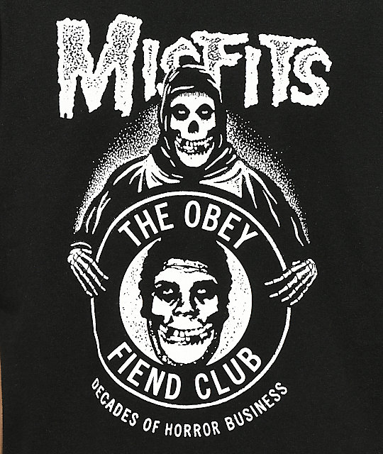 Obey x Misfits Decades Of Horror Black T-Shirt