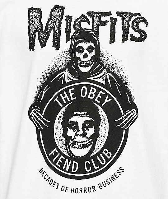 Obey x Misfits Decades Of Horror White T-Shirt