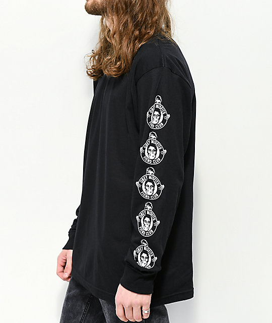 Obey x Misfits Fiend Club Black Long Sleeve T-Shirt
