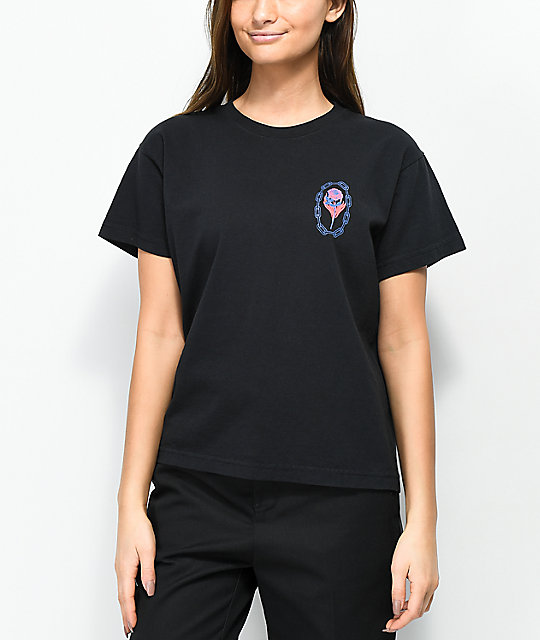 Obey x Never Made Rosettie Black T-Shirt