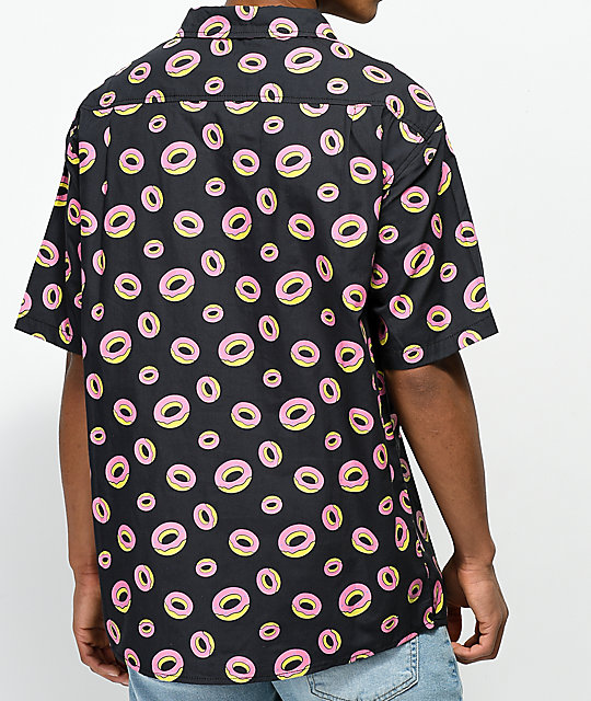 Odd Future All Over Donut Short Sleeve Button Up Shirt