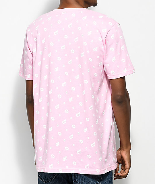 Odd Future All Over Donut camiseta en rosado y blanco