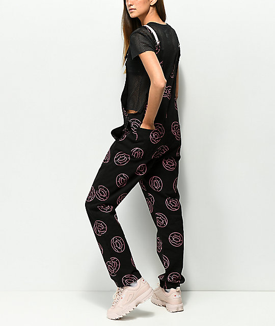 Odd Future Allover Donut Black Overalls