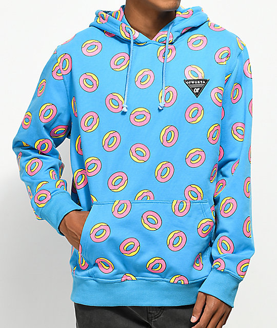 Odd Future Allover Donut Teal Hoodie ...