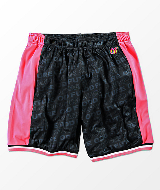 Odd Future Black, Pink & White Basketball Shorts