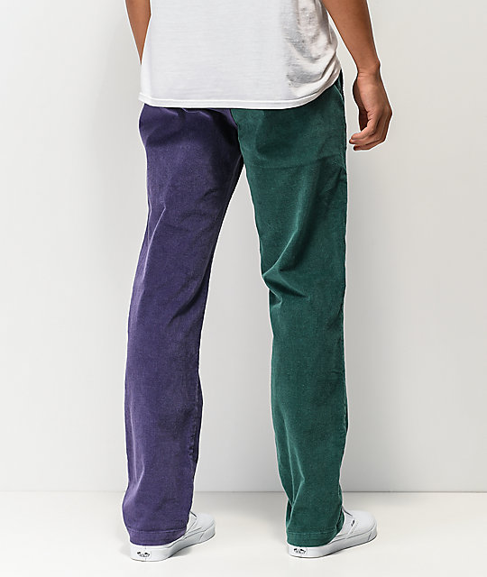 Odd Future Block Green & Purple Corduroy Pants