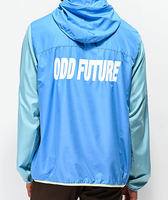 Odd Future Blocked Blue & Teal Anorak Jacket by Odd Future