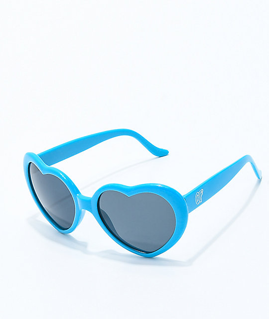 Odd Future Blue Heart Sunglasses