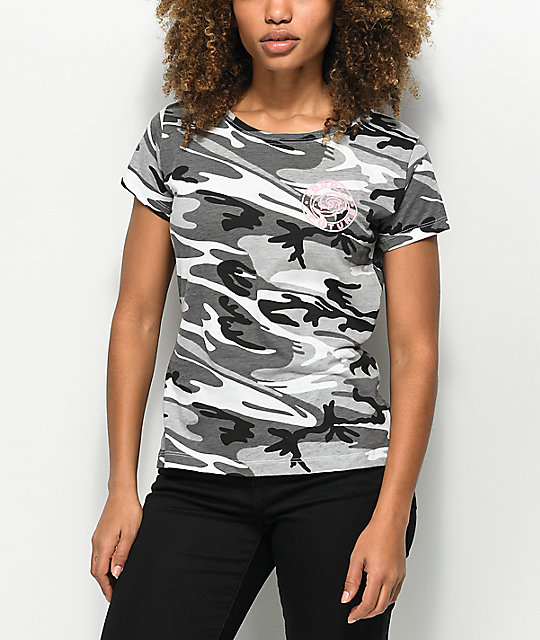Odd Future Circle Logo Black Camo T-Shirt