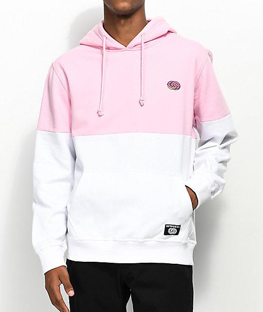 d06b61960f39 Odd Future Colorblock Pink   White Hoodie