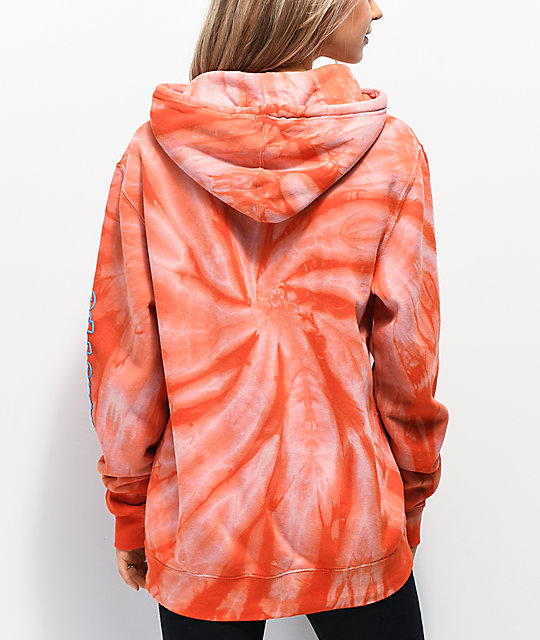 Odd Future Cyclone Orange Tie Dye Hoodie