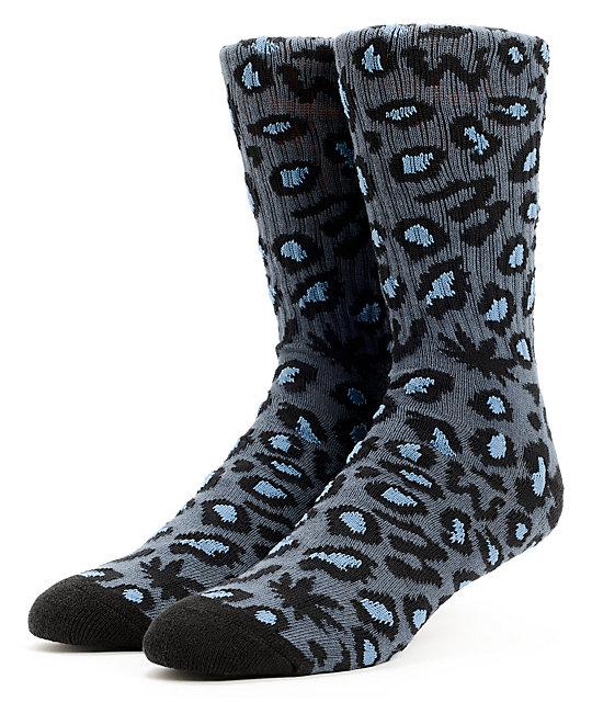 c2cb55a1c5e6 Odd Future Domo Cheetah Grey Crew Socks